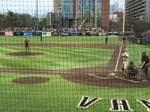 First pitch between Vandy and South Carolina, April 1, 2016. Nashville, TN.